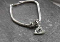 Snake chain bracelet with Tiny Treasures Charm